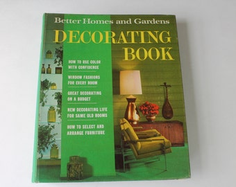 1960s Better Homes & Gardens Interior Decorating Design Book, Mid Century Decor, Retro Decorating, Atomic Age Decor, 1960s Decor