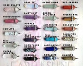 Crystal point necklace, Amethyst, Opalite Rose Quartz, Obsidian, Fluorite, Aventurine, Jasper, Clear quartz, Amazonite,