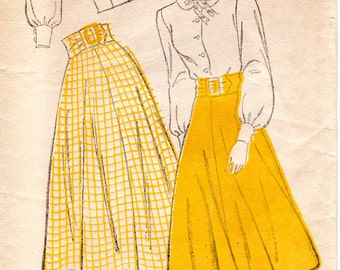 1940s Skirt and Blouse Pattern - Vintage New York 275 - Size 13 FF Juniors Separates
