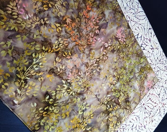 Autumn Placemats - Heat Resistant - Reversible Placemats - Batik Placemats - Fall Placemats - Thanksgiving Placemats - Set of 2