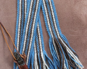 Wool Sash,  Carrying Strap, Historic Costume, Handwoven Wool Strap