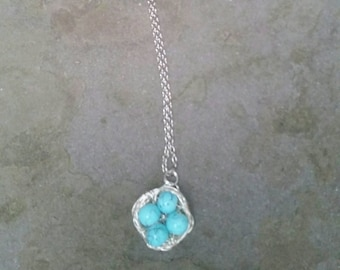 Birds' Nest Necklace Mother's Gift