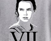 STAR WARS VII Mens or Unisex Shirt. Rey The New Heroine from The Force Awakens! Wear Opening Night! Star Wars Shirt. Star Wars Vii Shirt