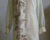 """Vintage 70's-80's Alfred Shaheen Dress Hand Printed in Hawaii Bust 38"""" Waist 37"""""""