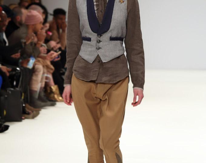 Blue Trimmed Waistcoat