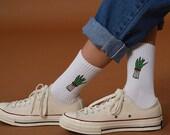 Green Shallot Socks