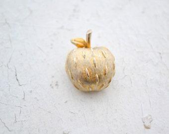 1960s Napier Gold Apple Brooch