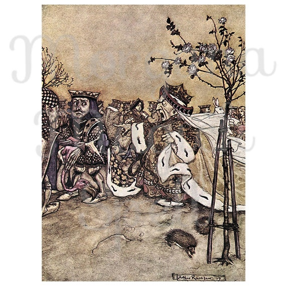 ALICE in WONDERLAND- QUEEN  Arthur Rackham