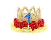 Snow White Inspired    Birthday    princess lace crown headband    customize