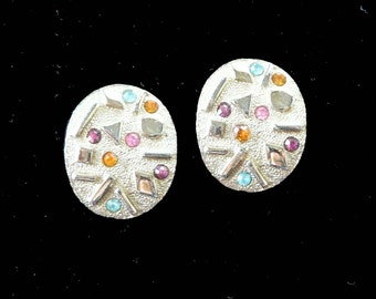 Clip On Earrings Rhinestone by Sarah Coventry Vintage Retro