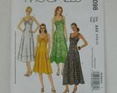 McCalls 5098, Misses Sundress Pattern, Women's Dress Pattern, Destash Sewing Patterns, Flared Dress with Princess Seams, Wide Straps Bodice