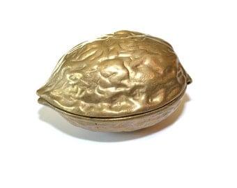 Brass Nutcracker Brass Walnut Brass Walnut Box Brass Nuts Walnut Cracker Brass Home Decor Fall Decor