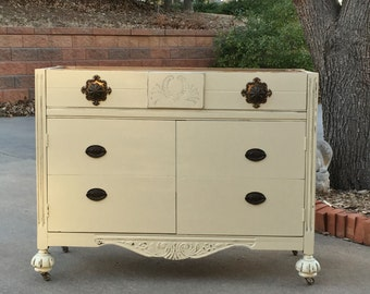 "BATHROOM VANITY Sourced and Painted Custom For You! Antique Bathroom Vanity Dresser Single Sink 28"" to 48"" Wide"