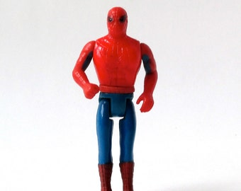 Rare SPIDER-MAN action figure, 1975 Comic Action Heroes, Marvel Comics, Mego Spidey figure, Spiderman