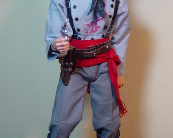 """Custom Cowboy Johnny Ringo from the Movie """"Tombstone"""" 1/6th Scale Limited Edition"""