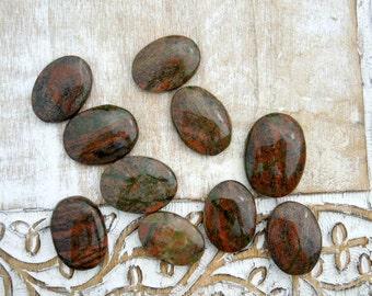 Unakite Palm Stones - Unakite Worry Stones - Meditation Stones - Reiki Crystals - Healing Stones - Natural Stones - Polished Unakite Stones