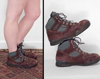 MERRELL Hiking Boots Size 6.5 Gore Tex Nova GTX Green Brown Suede