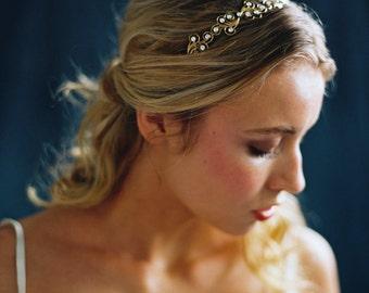 Bridal Headpiece, Bridal Headband, Catalina Crown Scroll & Rhinestone Headband -Style 5616