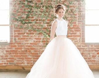 """Bridal Skirt - Norma J. - Tulle Skirt 10"""" Train"""