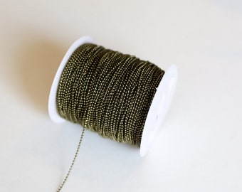 330ft Bronze Ball Chain Chain Spool - 1.5mm - 100m - Ships IMMEDIATELY from California - CH680
