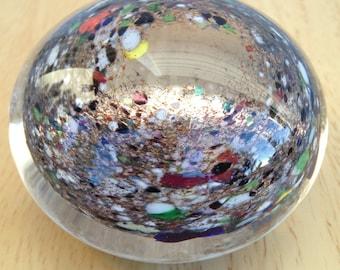 Confetti Party - handmade art glass paperweight