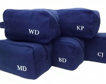 Set of 15 Canvas Toiletry Bags for Groomsmen Wedding Party Gifts
