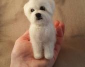 Needle Felted Dog - Tiny Maltese Poodle