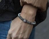Stack Bracelet, Stretch Bracelet, Hematite Bracelet, Diamond Bracelet, Stretchy Bracelet, Boho Bracelet, Stackable Bracelets, Bohemian, Boho