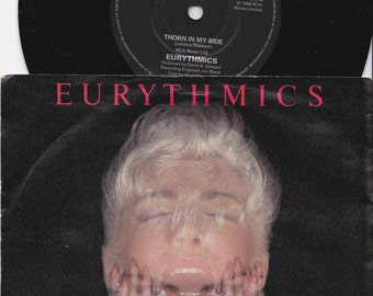 "EURYTHMICS Thorn In My Side 1986 Uk Issue 7"" 45 rpm Vinyl Single record synth pop new wave rock 80s music Annie Lennox Da8  Free Shipping"