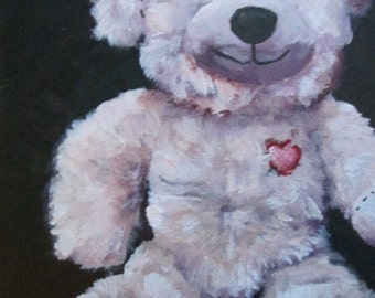 Teddy Bear Painting 6 x 8 in.
