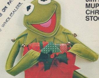 Vintage sewing pattern - Jim Henson's Muppet Christmas Stocking:  Kermit the frog