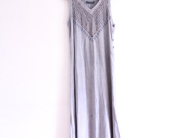 Soft Embroidered Indian Maxi Dress