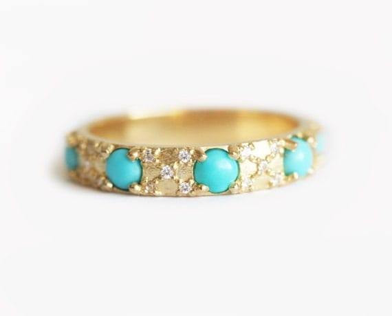 turquoise and diamond wedding ring diamonds and turquoise wedding ring turquoise eternity 8114