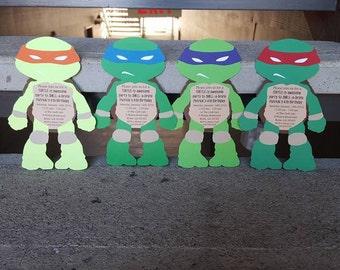 Teenage Mutant Ninja Turtles Invitations, Ninja Turtle Invitation, Ninja Turtles Party, Ninja Turtles Invitation, TMNT Invitation