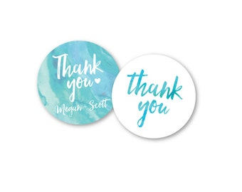 Watercolor Custom Wedding Stickers / His Her Favorite / Personalized Stickers / Wedding Favor / Cookie Bags / Custom Stickers / Personalized