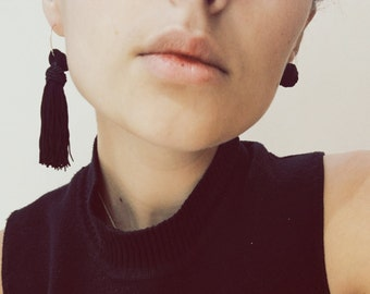 Asymmetrical Tassel Earings