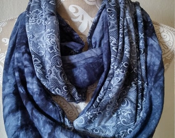 Two Sided Infinity Scarf, knit scarf, Women scarves, loop scarf, tube scarf, eternity scarf, handmade, accessories, circle scarf gift