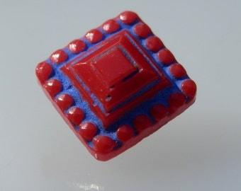 TINY Vintage Glass Button
