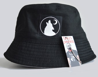 Wolf Moon Women's Bucket Hat, Ladies Bucket Hat Available In Four Colours