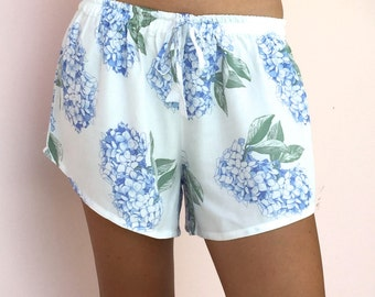 Biasa Pajama Shorts - Hydrangea BLUE - Code: P005