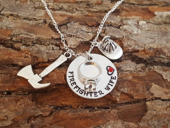 girlfriend silver necklace firefighters com plated zazzle fkoez fire firefighter symbol