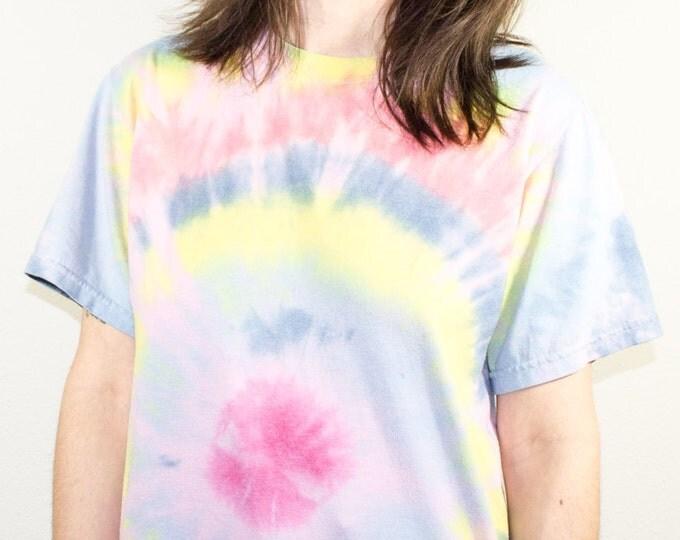 90s Vintage Tie Dye T-Shirt | Boho Hippie Tee | Fun Festival Tshirt | Retro Top | Small