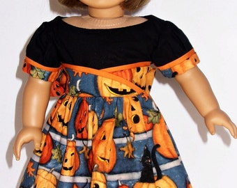 18 inch Doll Clothes Halloween Dress, Halloween Costume or Fall Dress