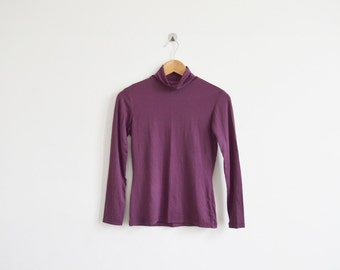 vintage 1990s plum turtleneck top