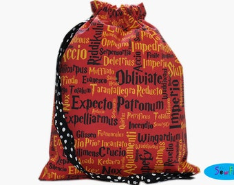 Knitting Bag | Project Bag | Sock Bag | Drawstring Bag | Drawstring Pouch