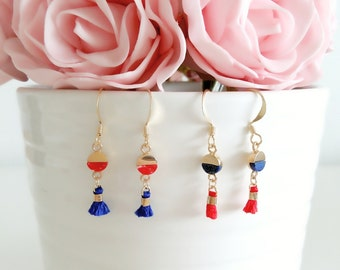 Jolly Tassel Collection | Marble Gemstone Earrings, Tassel Earrings, Personalized Earrings, Wedding Earrings, Gift for her, Boho Earrings