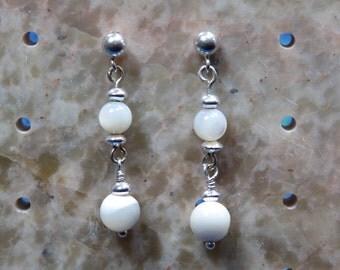 Creamy Mother of Pearl Earrings