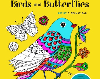 I Sassi dell'Adriatico - Sehnaz BAC Coloring BOOK - Brilliantly Vivid Color by number - Birds and Butterflies (Signed by Author)