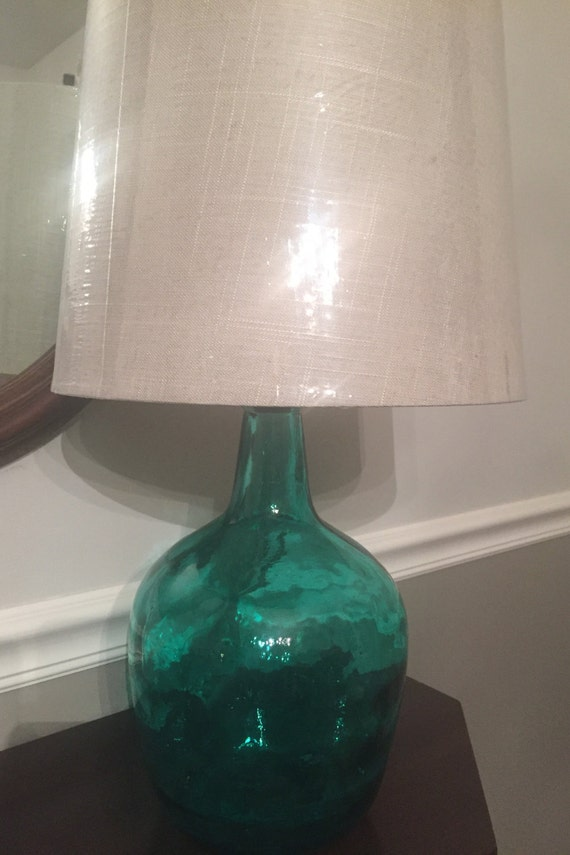 Spring Green Glass Demijohn Table Lamp