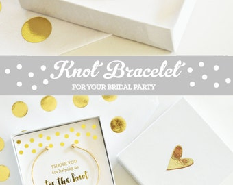 Bridesmaid Thank You Gift Bridal Party Gifts Bridal Party Jewelry Maid of Honor Gift Ideas Knot Jewelry (EB3145) Tie the Knot Bracelet
